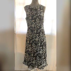 Black Multi Print Dress Size 12